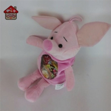 mini kid plush pig toy bag