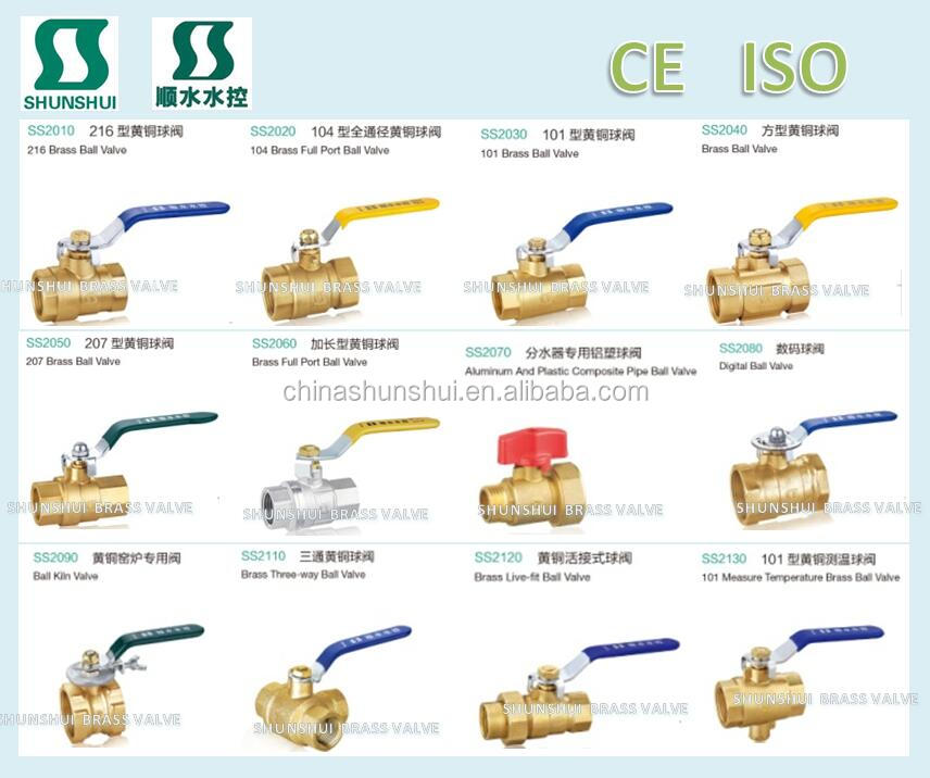 male femail Brass ball valve for water, oil,