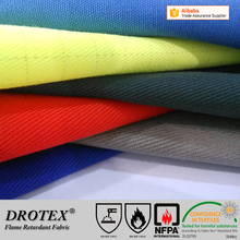 superb quality 280gsm oil resistant flame retardant ESD fabric for safety garment