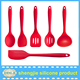 High quality silicone Kitchen Utensils Set can package by your custom box