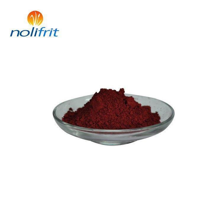 Environment-friendly inorganic purple red pigment for enamel