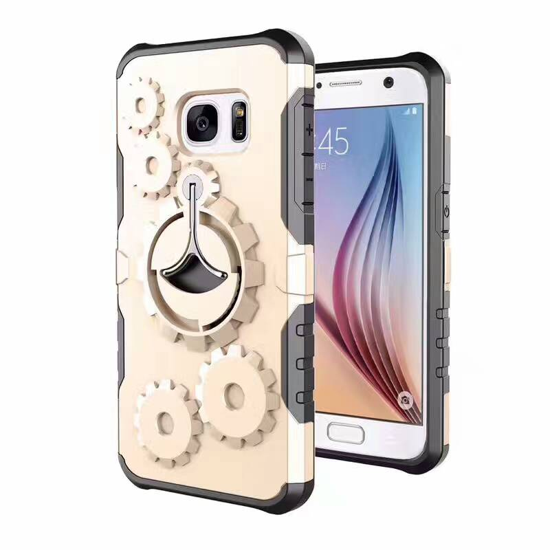 New Coming 3D wheel Gear rotatable Kickstand PC TPU case for Samsung S8 S8 Plus
