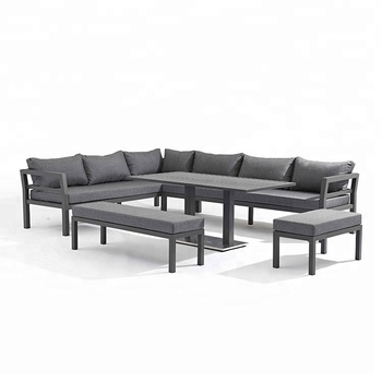 Fashion Designed All Weather Waterproof Small Outdoor Sectional Sofa Aluminum Garden Set
