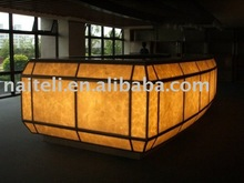Backlit Design Translucent Prefabricated Bar Countertop