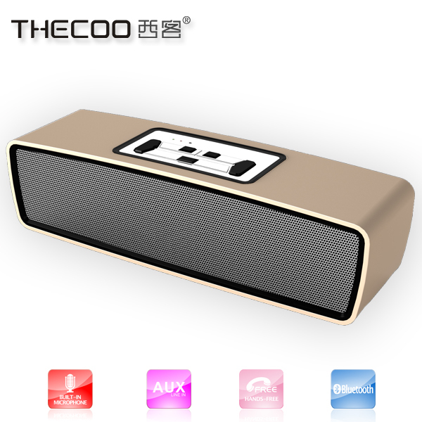 Hands free calling Disco light bluetooth speaker for docking station with 10 power