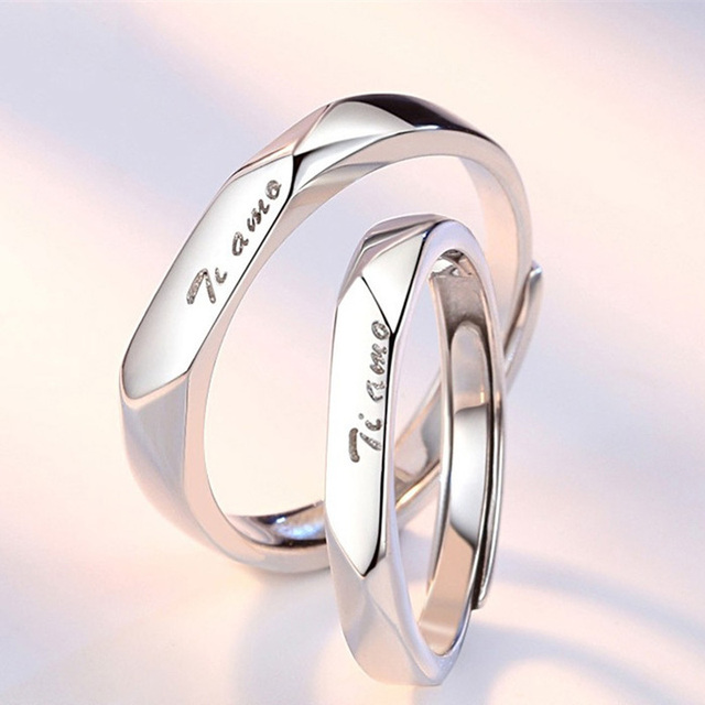 S925 Sterling Sliver Factory directly selling flexible ring jewelry Couple Sliver Ring