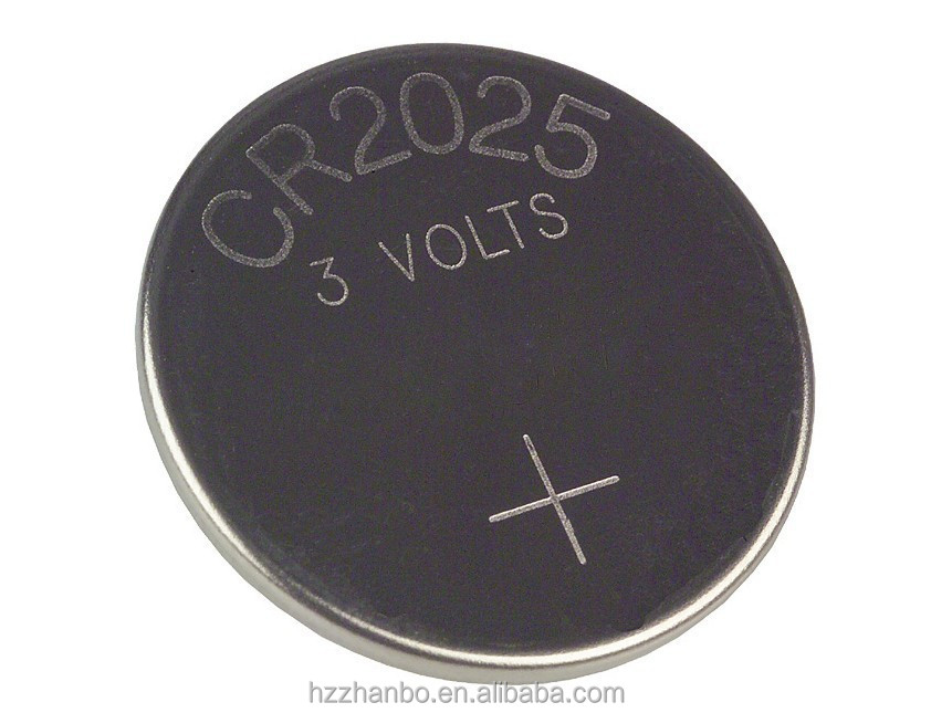 High quality CR2025 3V lithium button cell battery