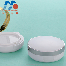 Foshan Hengsheng supply wholesale screen printing empty cosmetic loose powder compact case with puff cushion