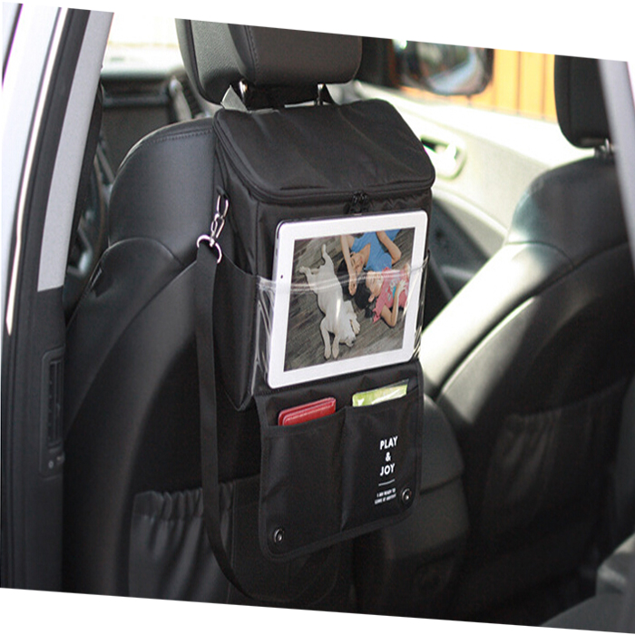 Hotsale Car Back Seat Organizer/Auto Seat /Multi-Pocket Travel Storage Bag/Insulated Car Seat Back Drinks Holder Cooler