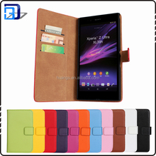 Premium Genuine Wallet Stand Flip Cover Leather Phone Case For Sony Xperia Z Ultra XL39H