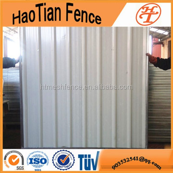 heavy duty construction site temporary steel hoarding temporary enclosure wall for sell