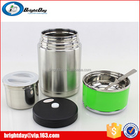 Stainless steel lunch box with plastic collapsible lunch box
