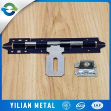 Longer and safely cabinet iron two sided sliding gate latch