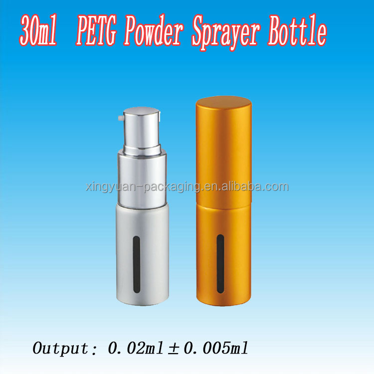 30 ML BB powder sprayer PET Bottle/ Coating Gold PET Bottle with Powder Spray for Wholesale from China Supplier