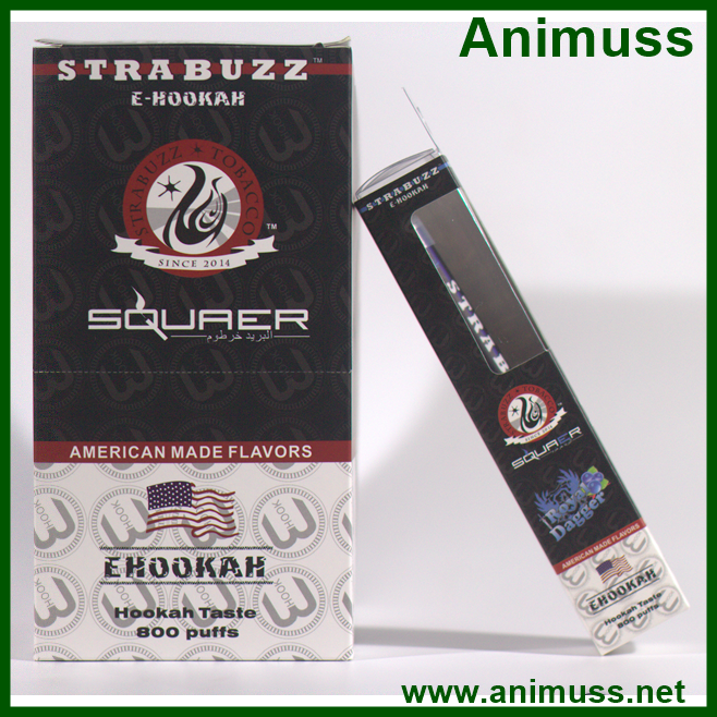 China supplier OEM 800puffs disposable tobacco free hookah Vapor pen for Star Buzz ehookah shisha pen