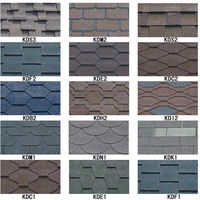 Waterproof 3-tab Standard Asphalt Roof Shingle / Tile