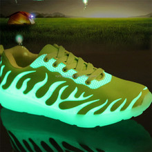 Manufacture factory 2016 New Fashion Fluorescence Luminous Shoes Women & Men Alentine Shoes For Adults Free Shipping