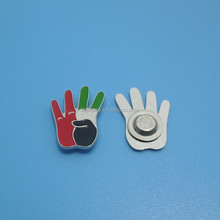 UAE national day 44 magnet lapel pin gifts,UAE 44 finger shape broochl pins, UAE flag enamel magnetic collar pins/tie pins NEW