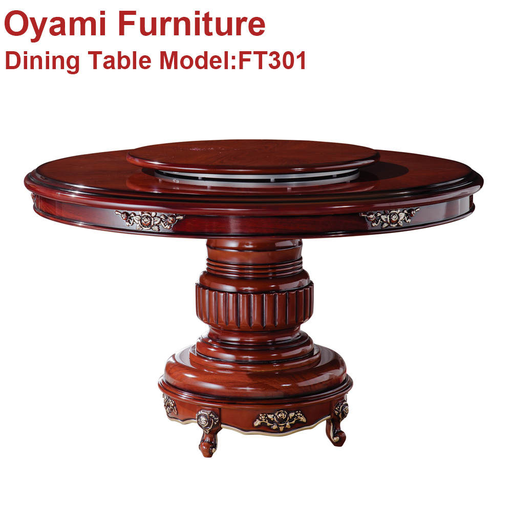 Chinese manufacturer <strong>oak</strong> dining round table <strong>and</strong> chair set