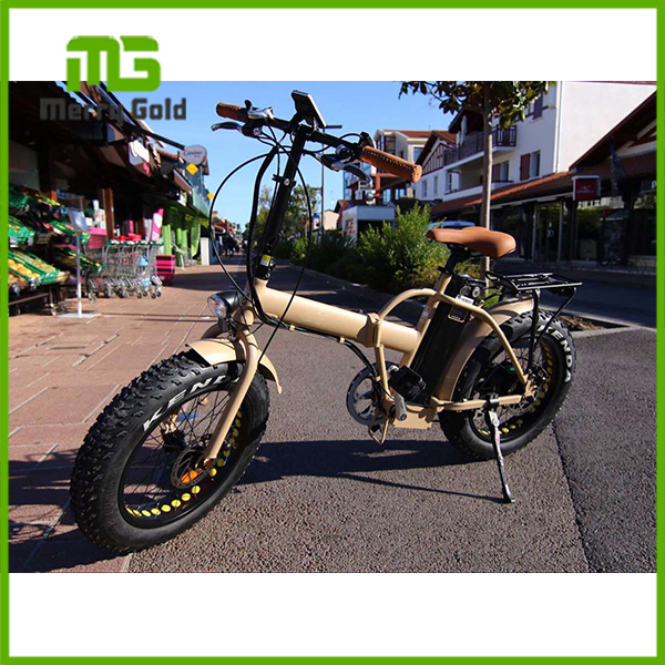 48V 500W/750W high power 20 inch fat tire folding E bicycle /ebike