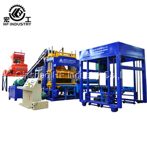 QT5-15 cement sand concrete hollow paving slab making machine