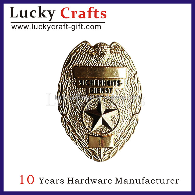 2016 hot sale custom made metal badge for wallet