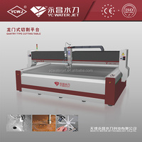 YC CNC 3AXIS portable water jet cutting machines for carbon steels