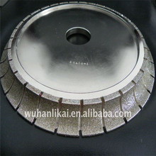 high quality electroplated diamond groove grinding wheel for stone