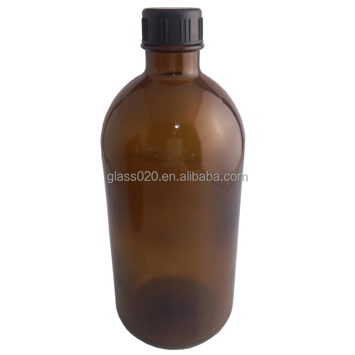 supply big capacity 500 ml 17oz amber glassbottle