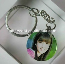 lovely Photo Printed crystal keychain MH-YS0305