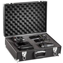 Pro Aluminium Hard Case Padded For Digital SLR Cameras Case Black