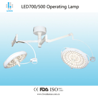 Ceiling type LED Operating lamp double dome LED700/500