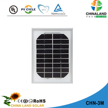 2017 Hot Selling Solar Panel 3w mono photovoltaic panel price, paneles solares