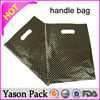 YASON pvc tube handle wine bottle carrier bagpatch handle bagclear plastic pet/pe spout pouch 2l with handle