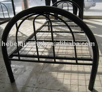 Good quality modern black single metal bed buy single for Good quality single beds