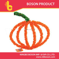 2015 New Design Pumpkin Shape Garland Tinsel For Halloween Ornament