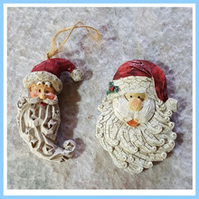EXW China Manufacturer High Quality Artificial Resin Santa Heads