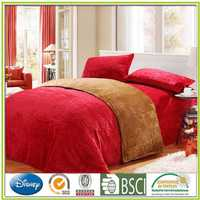 Solid dyed Flannel bed set embossed flannel bed products Flannel coordinated bath towel from china