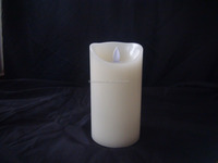 Flameless Pillar Led Wax Candle with Moving Wick