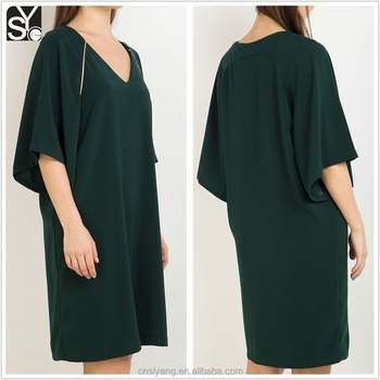 Chinese supplier clothing manufacturer women dress, casual autumn/winter fashion dress SYD002