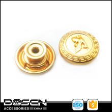 Matte Gold Hanger Plating Jeans Metal Buttons Clothes Custom Engraved Logo Coat Button For Garment Suspender Overcoat