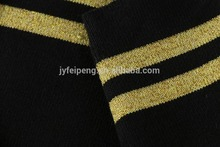 Cotton polyester spandex striped customized rib fabric for polo shirts