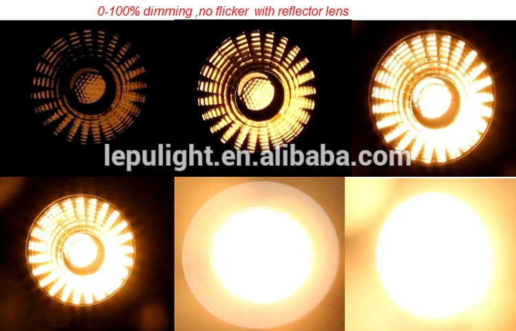Gyro new design dim to warm 9w led cob downlight super warm 2000-2800k 0-100% dimming 83mm for Norge
