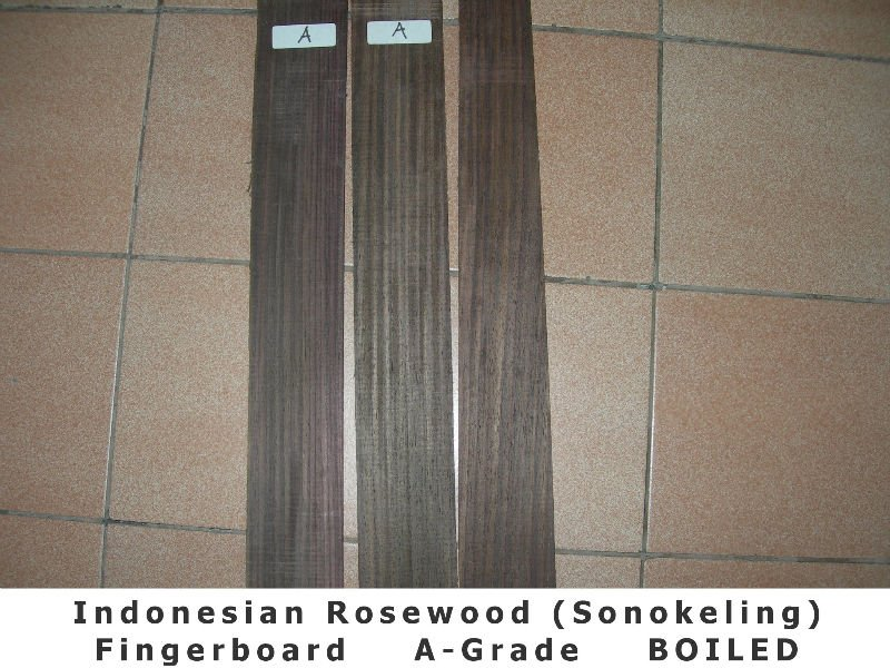 Indonesian Rosewood (Sonokeling) Fingerboard - Dark Color (A GRADE)
