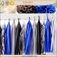 New year eve decoration glittering lucky blue paper party backdrops
