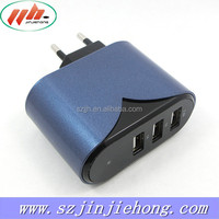 2015 hot sale cell phone charger full 5v4.2a 3 usb wall charger