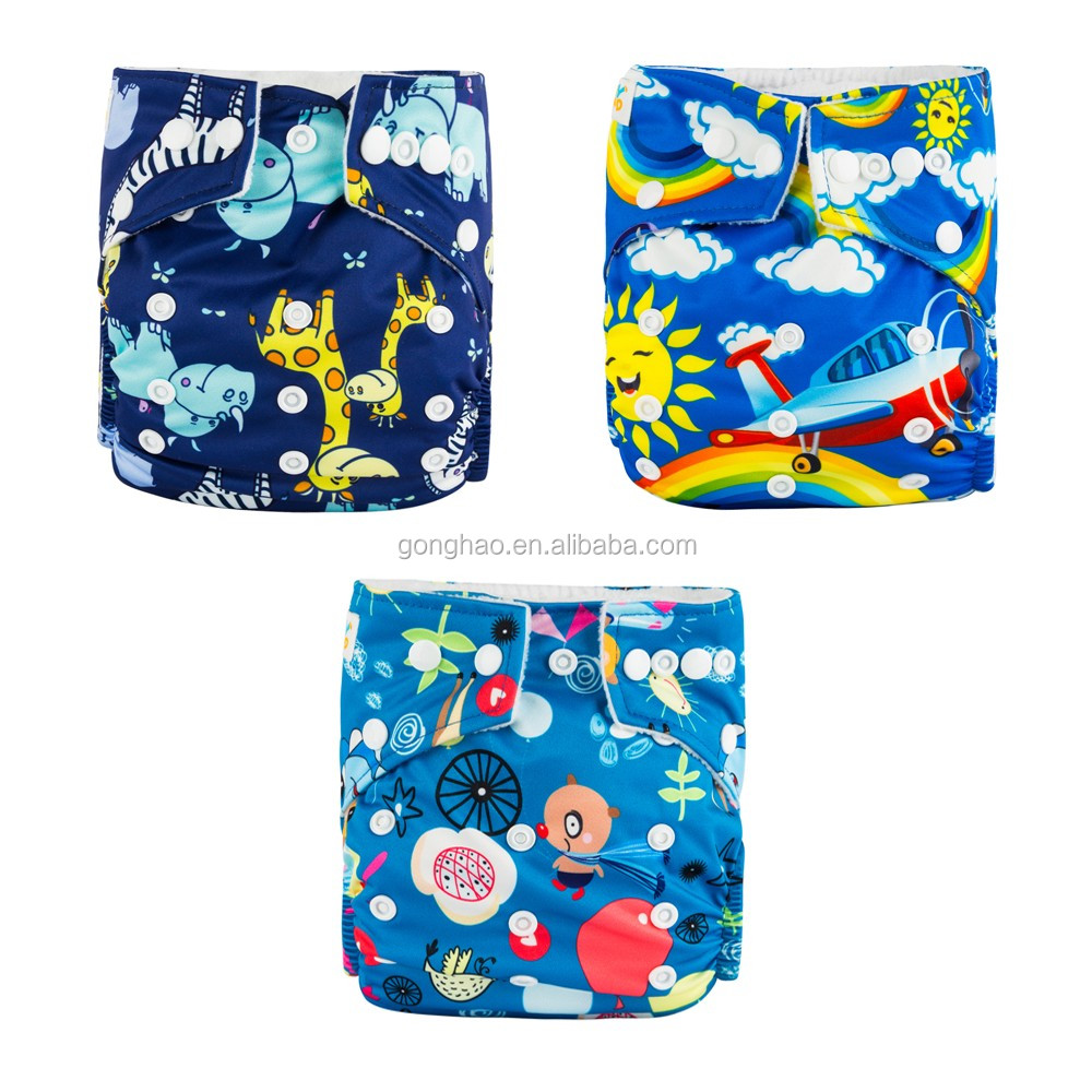 Newest Prints U-pick Eco-friendly Washable Potty Trainning Baby Girls and Baby Boys Baby cloth diaper