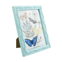 European Stylish Wooden Carving Printing Beautiful Photo Frames Cheap
