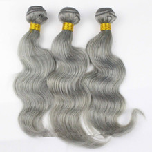 wholesale stock 100% human hair brazilian virgin gray braiding hair