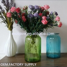 China goods economic floral design amber glass flower vase